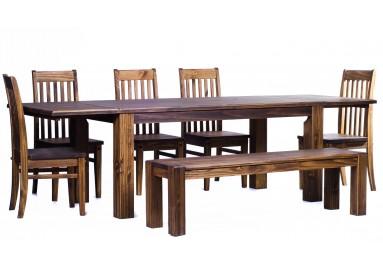 Brasilmöbel Tisch Rio Classico 180x90 + 4 Stühle+Bank Bonito
